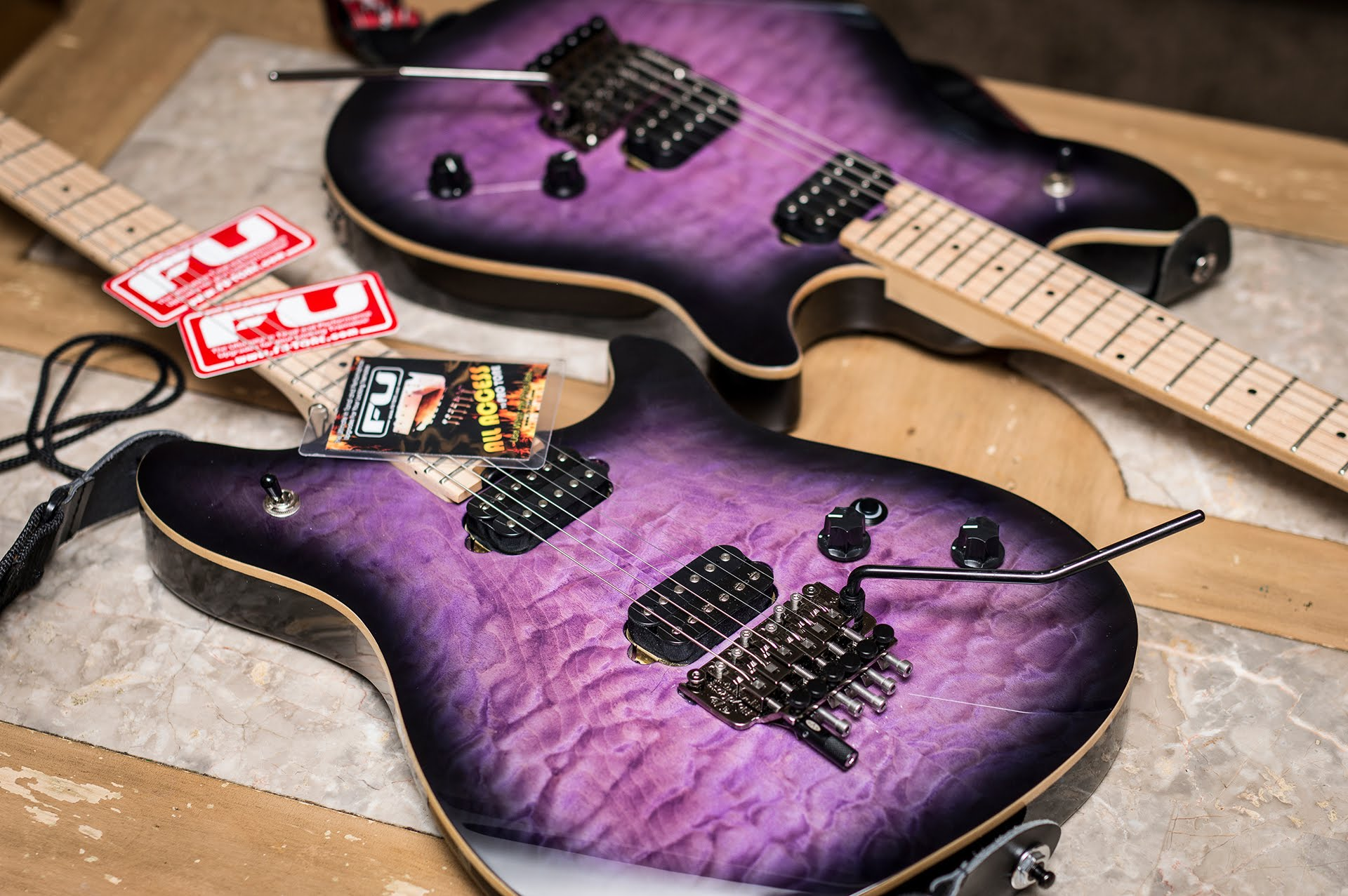 FU Tone EVH Wolfgang Standard Transparent Purple Guitar EVH Gear